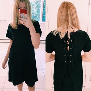 NWOT THEORY LACE BACK RAGLAN DRESS